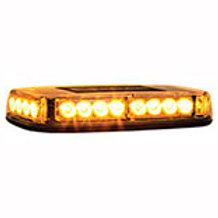 Rec. Amber Led Mini Lightbar, 12-24 volt