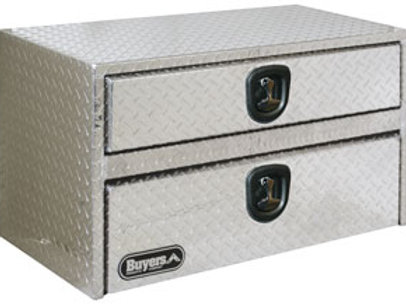 "Aluminum Underbody Toolbox with Drawer 20"" x 18"" x 36"""