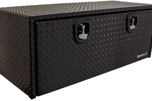 "Black Powder-Coating Aluminum Underbody Toolbox 18"" x 18"" x 24"""