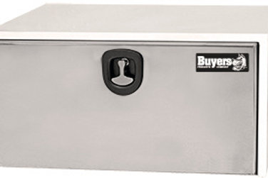 "White Steel / Stainless Steel Underbody Toolbox, 18"" x 18"" x 36"""