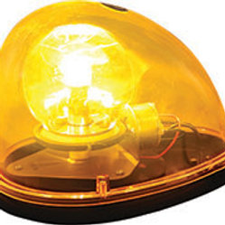 Amber Incandescent Teardrop Revolving Light, 12V