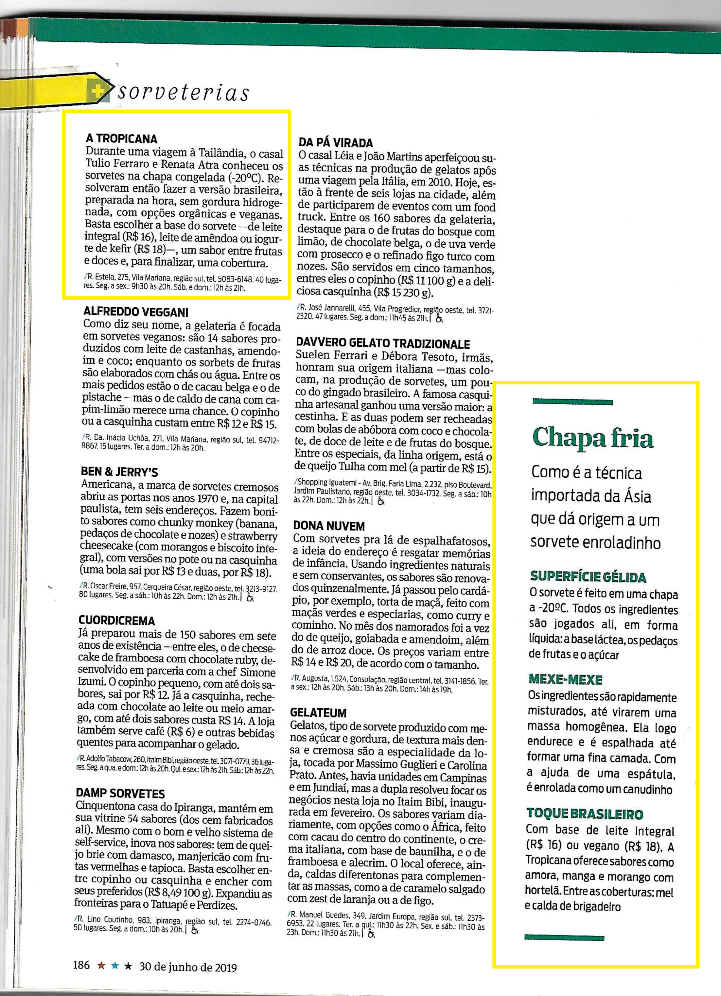 Destaque Sorveterias - Folha