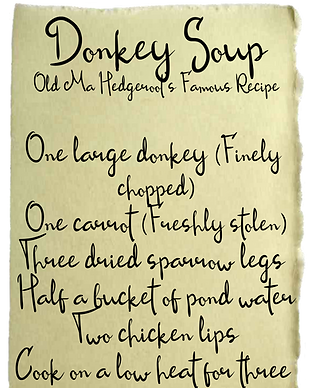 Donkey Soup Recipe Card
