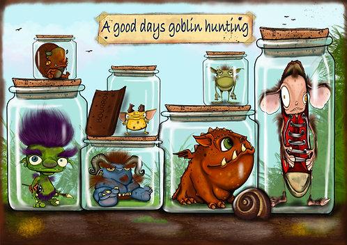 Goblin Hunting - A5 Giclée print