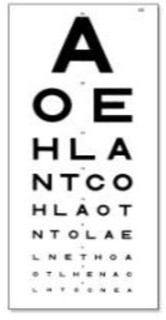 Snellen Visual Acuity (Eyesight Test) Chart