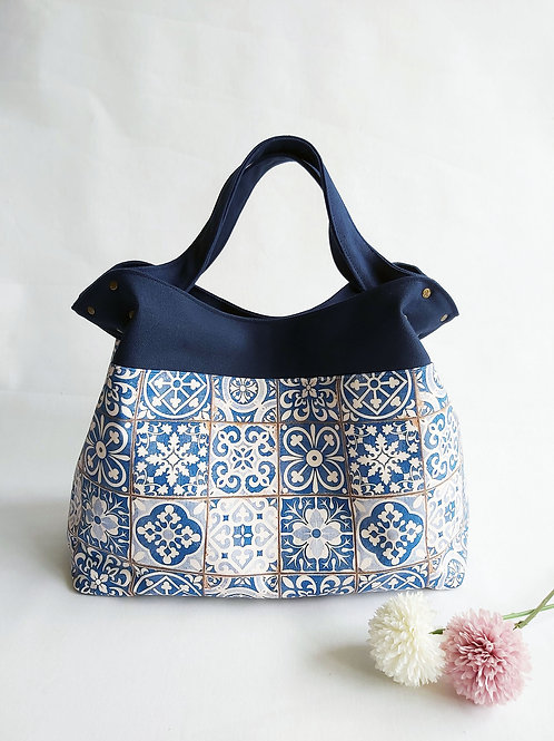 Handmade Mod Flaire Tote Bag - Peranakan Tiles