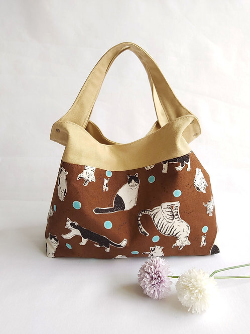 Handmade Mod Flaire Tote Bag - Big Cats