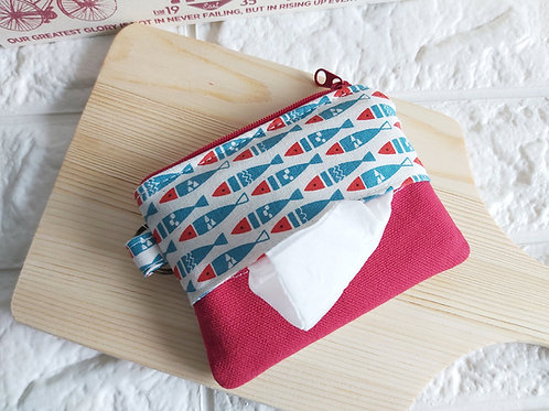 Handmade Fabric Tissue Holder cum Coin Pouch - Fish Tissue View