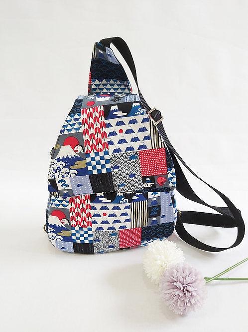 Odilia Cross Shoulder Backpack - Japan Mount Fuji