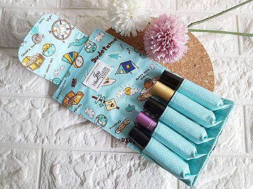 Handmade Fabric Essential Roller Oil Pouch (5 Bottles) : Gudetama Interior