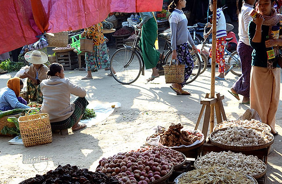Dao overjoyed at a local market in Schwebo, Mandalay province. Myanmar #rebirthrice