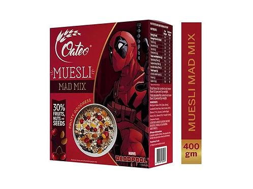 Oateo Muesli Mad Mix  (Raisins, Cherry, Almond) 400g Box