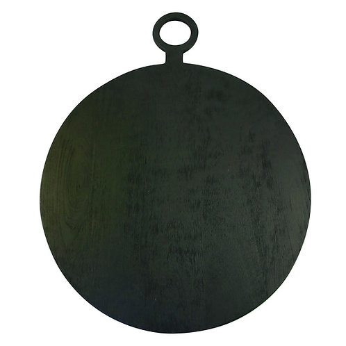 Black Mango Wood Round Board Extra Large