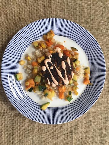 Simple Healthy Veggie Dinner