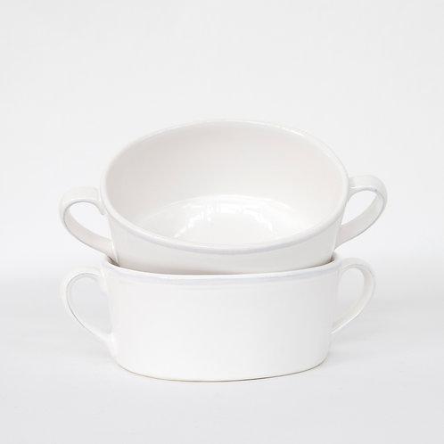 Clos du Manoir Two Handled Soup Bowl