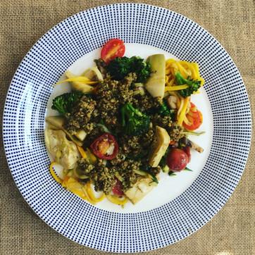 Pesto Vegan Veggie Pasta