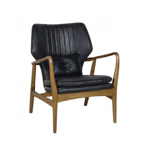 Leather Helsinki Chair - Coal