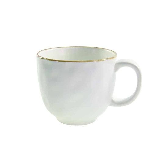 Tan Rim Stoneware Mug