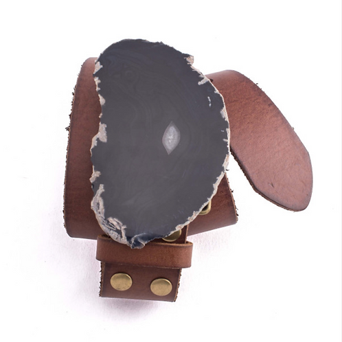 Leather Belt - Agate