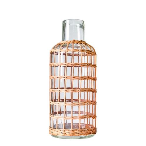 Rattan Cage Vase Carafe Medium