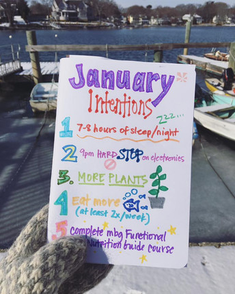 New Year Intentions