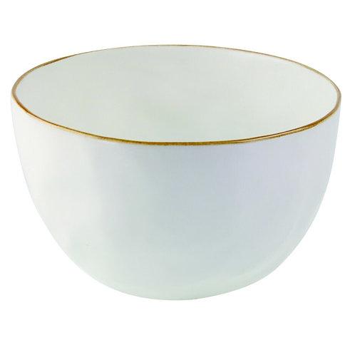 Tan Rim Stoneware Bowl - Large
