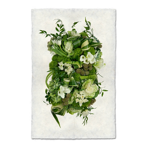 Green and White Collective Floral