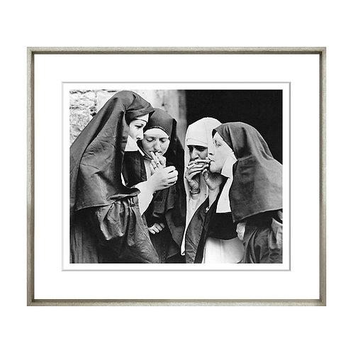 Black & White Dirty Habit Framed Print