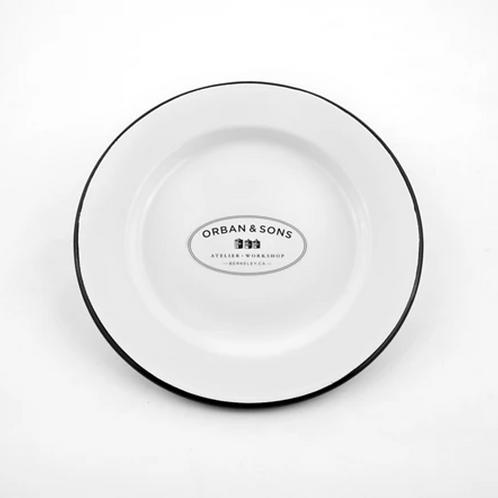 Orban & Sons Enamel Dinner Plate