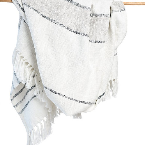 Duka Throw Blanket - Ivory