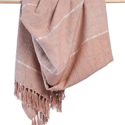 Duka Throw Blanket - Blush
