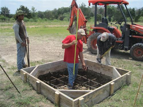 Pouring the Foundation for the Entrance Cross - TMR Construction … May 25, 2012