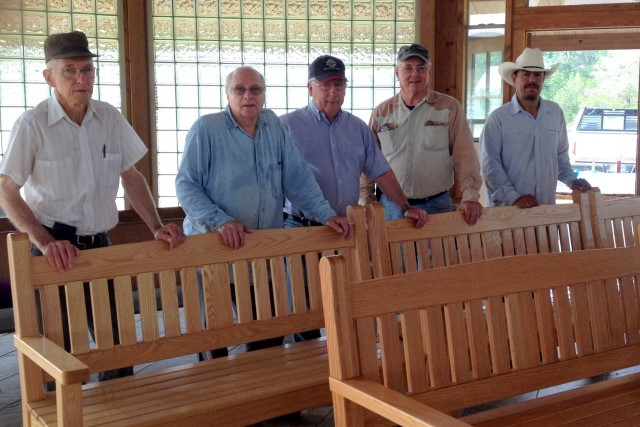 Six more oak pews, hand-crafted by Ken Andrews and finished by Joe Gajdos, were delivered … May 18, 2016