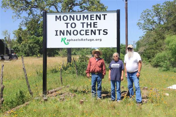 New Highway Sign - pictured are welder Jose Guajardo and sign makers Paul and Rose Gillaspia … May 17, 2014