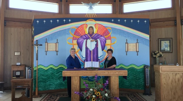 Visitors Diane and Veronica from Ganado, Texas … October 2, 2016