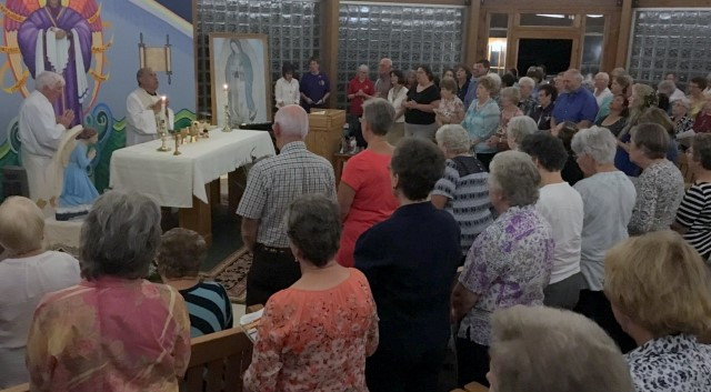 Overflow attendance at the Mass for the Feast of the Archangels. … September 29, 2016