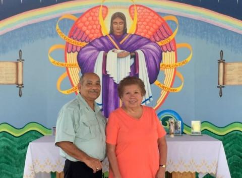 Sam and Carmen visiting from Austin, Texas … October 1, 2017