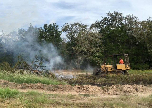 BMTech clearing brush for an exit way to Old Waelder Road … September 25, 2016
