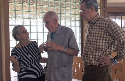 Fr. Bill Davis and Michael O. enjoyed a delightful afternoon and tour by Midge, June 28, 2021.