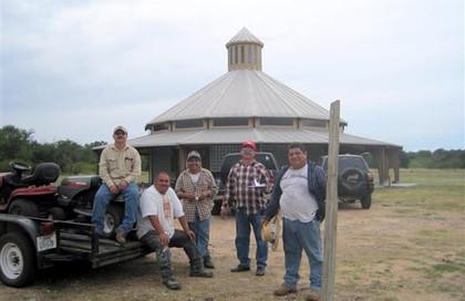 ACTS Men, Elias Flores, Rigoberto Cruz, Ruben Cedillo, Pedro Villegas, and Julio Villegas, After Donating Hours of Grounds Keeping Work at Raphael's Refuge. … June 30, 2012