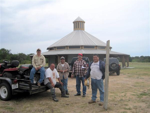ACTS Men, Elias Flores, Rigoberto Cruz, Ruben Cedillo, Pedro Villegas, and Julio Villegas, After Donating Hours of Grounds Keeping Work at Raphael's Refuge. … June 30, 2012