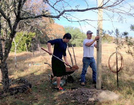 Brandon and Francisco Torres Installing a Bat House for Our Wildlife Management Plan … December 21, 2013