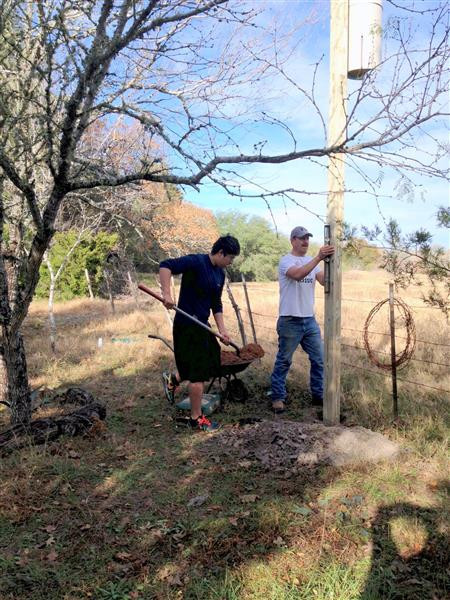 Brandon and Francisco Torres Installing a Bat House for Our Wildlife Management Plan … December 21, 2013