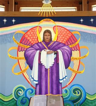 Mrs. James (Helen) Mica of East Bernard has donated a beautiful Bible for use in our Chapel … August 17, 2013
