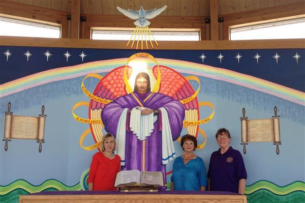 Phyllis Venghaus, Lillian Hilscher, and Bernadette Gillings presented a donation from CDA St. Rose Court 1597 of Schulenburg, Texas … June 20, 2014