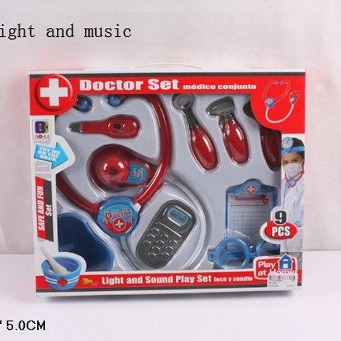 10-384-5 Набор доктора со звуком и светом 9 предметов в кор.