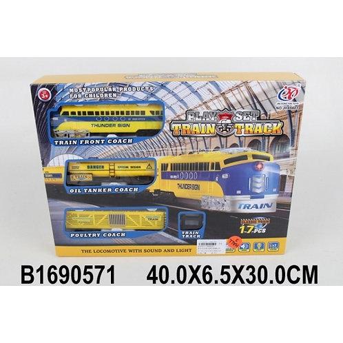 14-301-52 Железная дорога на бат. свет+звук JHX6603 в кор.