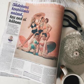 Laupäeva leht, artikkel: Sädelevates kostüümides naised kes end ei häbene.