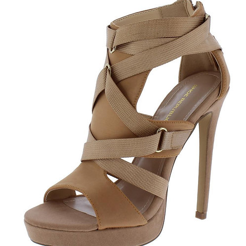 Peep Toe Strappy Stiletto