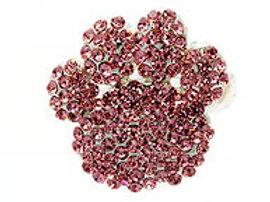 Pink Crystal Paw Print Stretch Ring